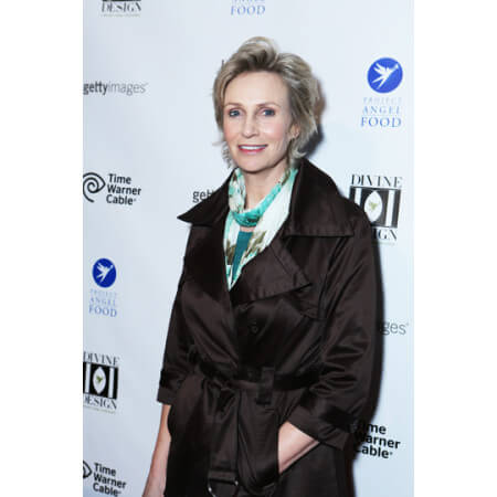 Jane Lynch in front of a step and repeat made by yours truly!