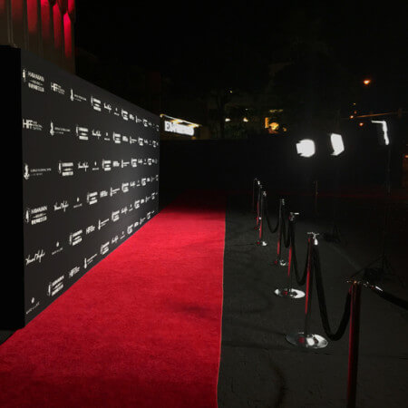 A bright Media Wall for the Hawaii International Film Festival