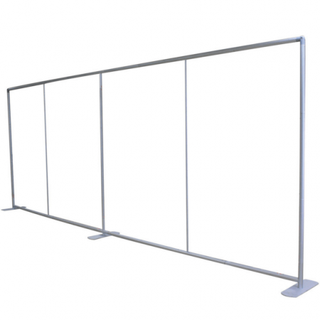 8 by 20 foot frame for Fabric Stretch Display
