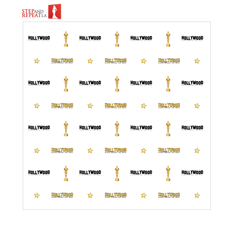 8 X 8 Themed Step And Repeat Banner Rental
