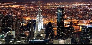 backlit city