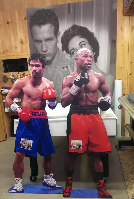 Life size Cut-outs of Famous Boxers