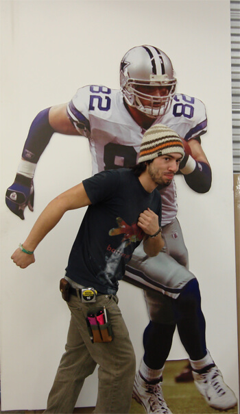 Football player cut out