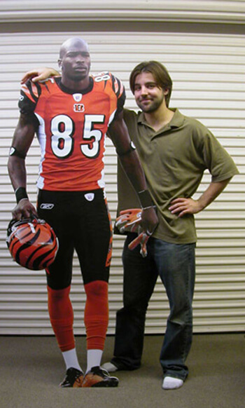 High quality cut out of football player