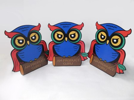 Owl cut-outs for Google