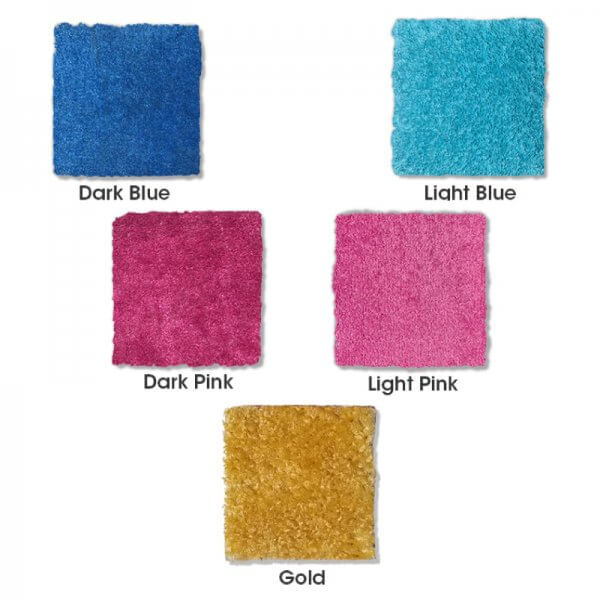 Carpet color sample swatches