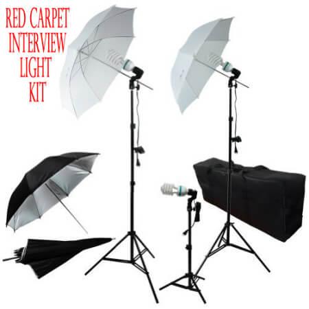 red carpet interview light kit