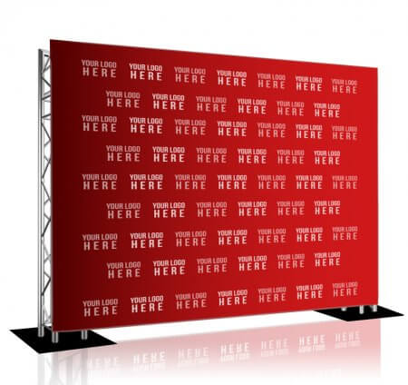 Step and Repeat LA truss-and-base display