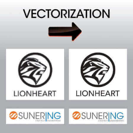 Vectorization - we can help turn your pixelated logos into crisp, sharp, high-resolution logos that print great at any size.