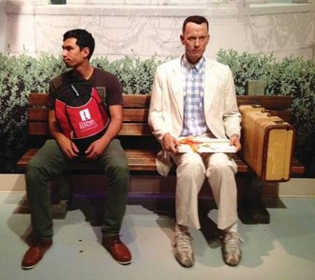backpack and forest gump