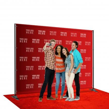 8 by 10 foot step and repeat backdrop