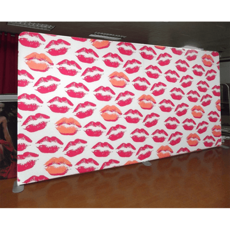 lips 10 foot fabric stretch display