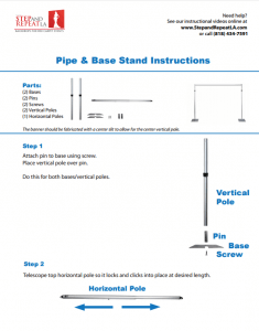 How to Set up a Pipe and Base Stand