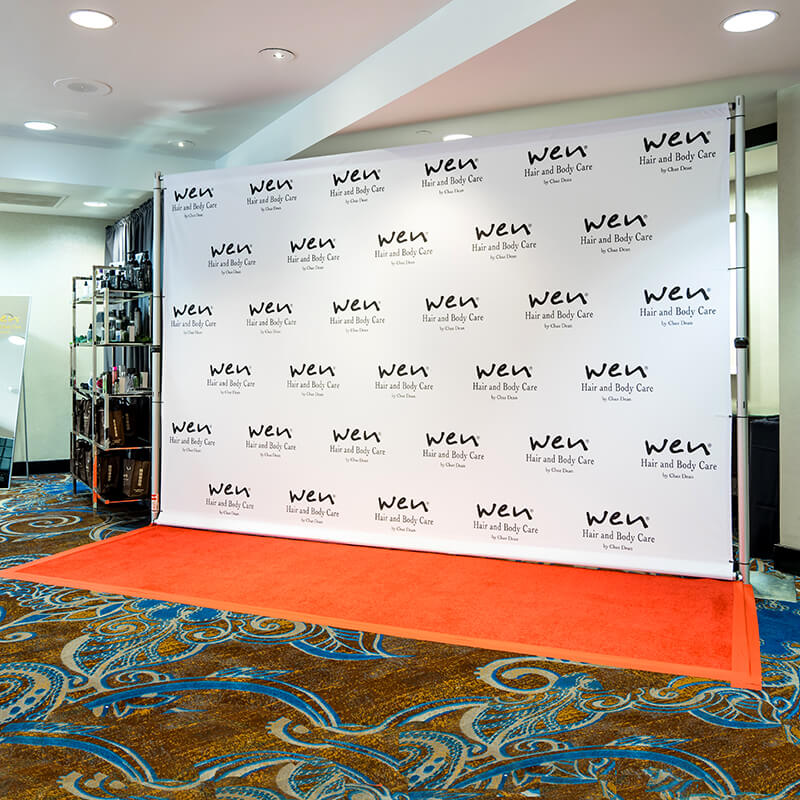 ff5bfd908e29 ... backdrop · An 8 by 12 foot fabric step and repeat for WEN by Chaz Dean  ...