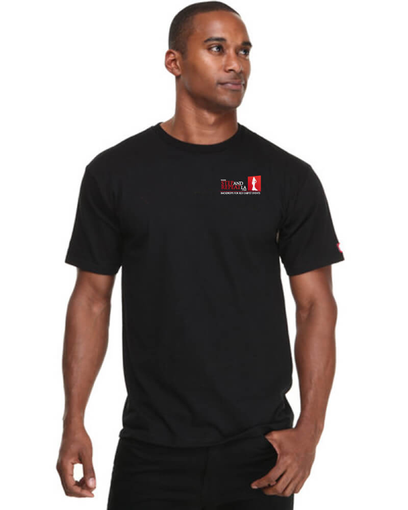 Blank black t shirt model step and repeat lastep and for Model black t shirt