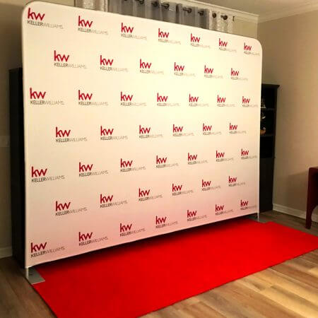 10' Fabric stretch display for Keller Williams