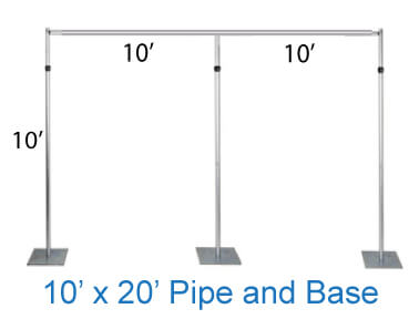 pipe and base stand