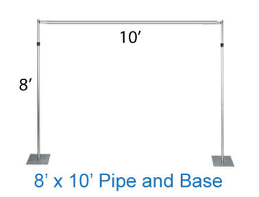 8' x 10' pipe and base stand