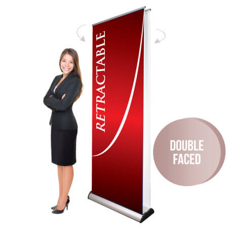 Double-Faced Retractable Display
