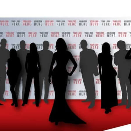8 by 20 foot step and repeat