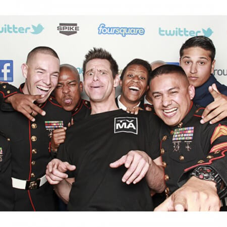 Jim Carey and Group by Smilebooth