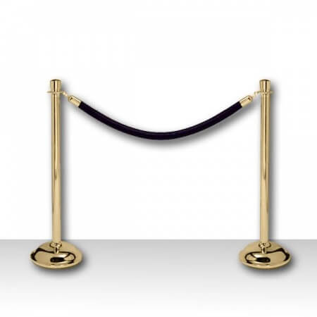 Black and gold stanchions
