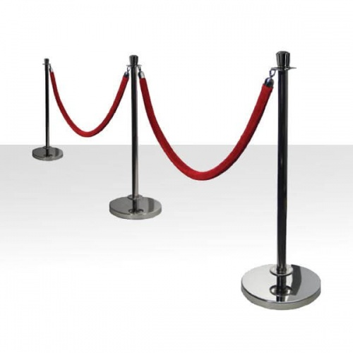 Silver Stanchions