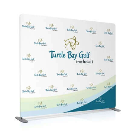 8 by 8 foot Fabric Stretch Display