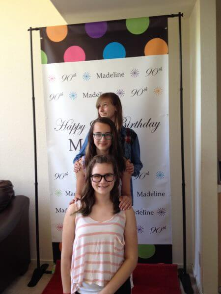 Madiline's Birthday 4' x 8' step and repeat backdrop