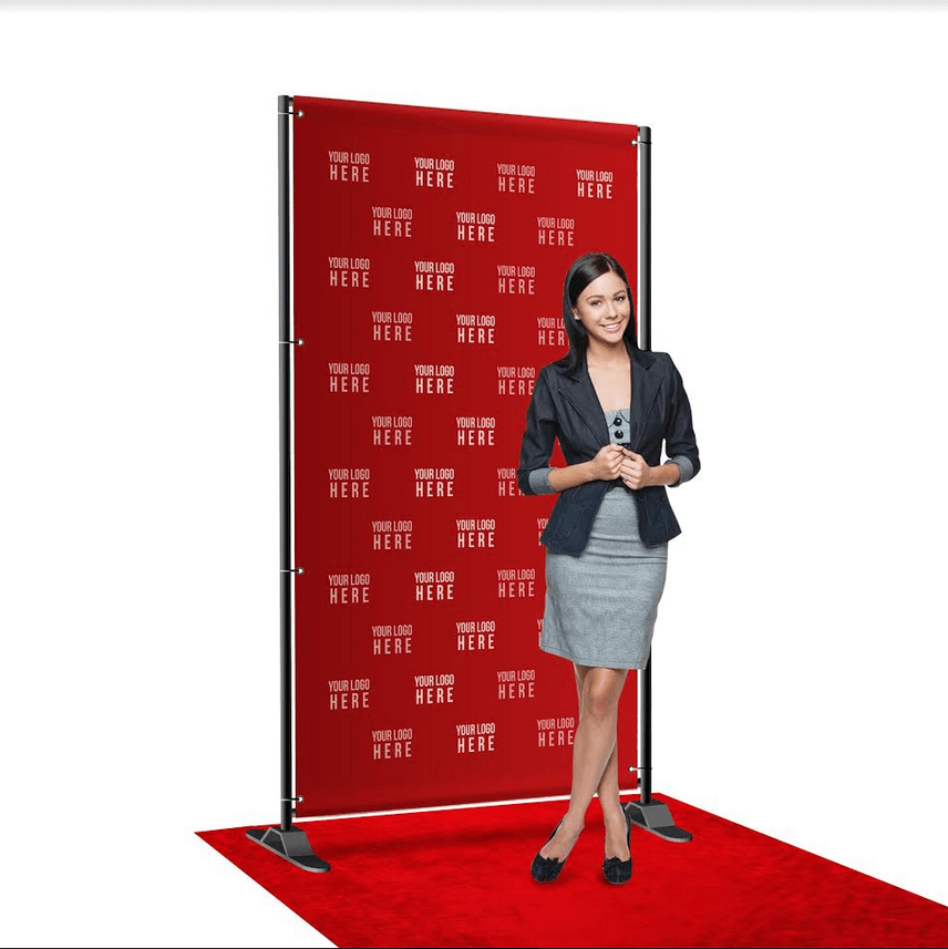 8 by 4 foot step and repeat backdrop