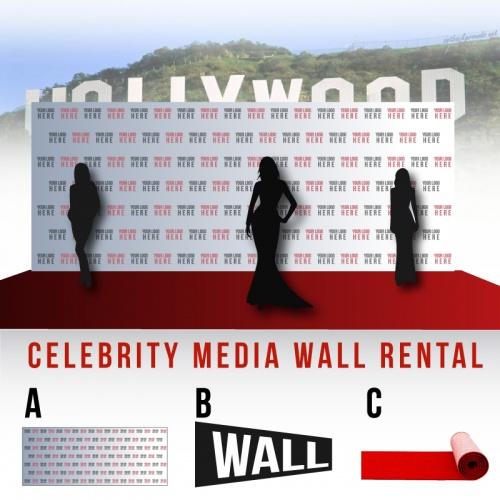 Celebrity Media Wall Rental