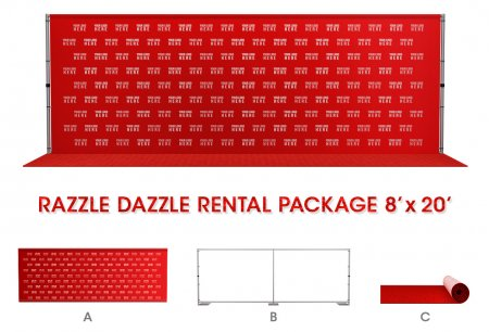 8' x 20' Razzle Dazzle Rental Package