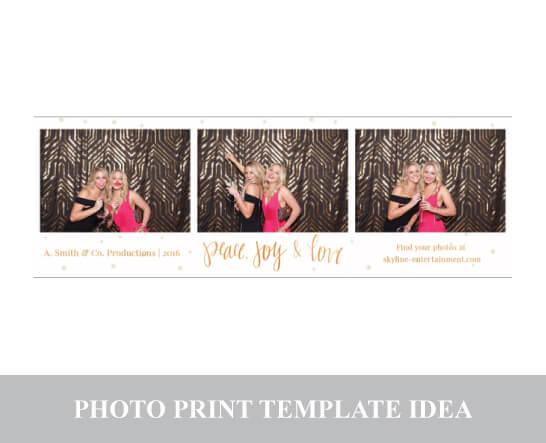 Photo Template Card - Horizontal Strip