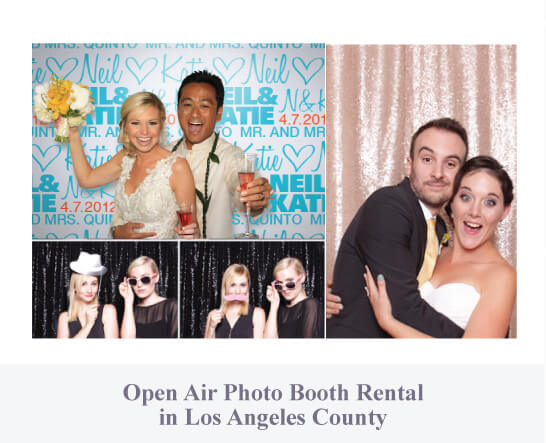 Open air photo booth rental in Los Angeles