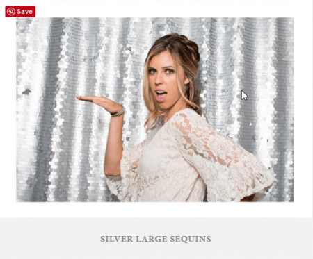 A special backdrop with large silver sequins