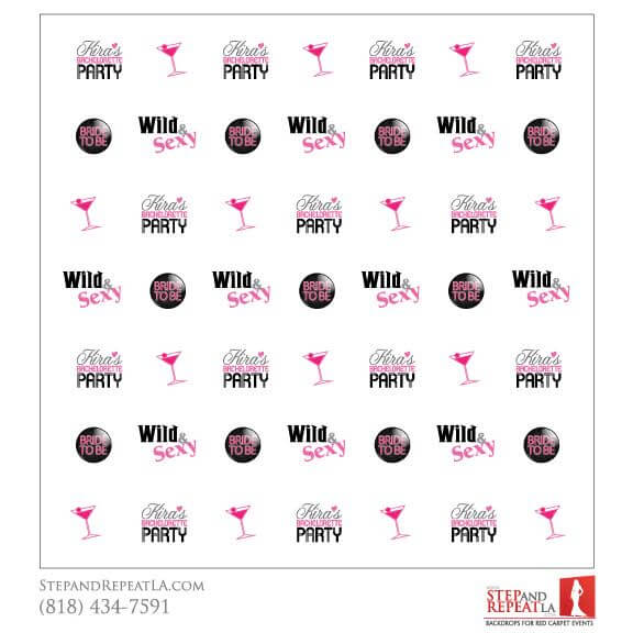 Bachelorette Party Step And Repeat BackdropsStep And Repeat LA - Step and repeat template
