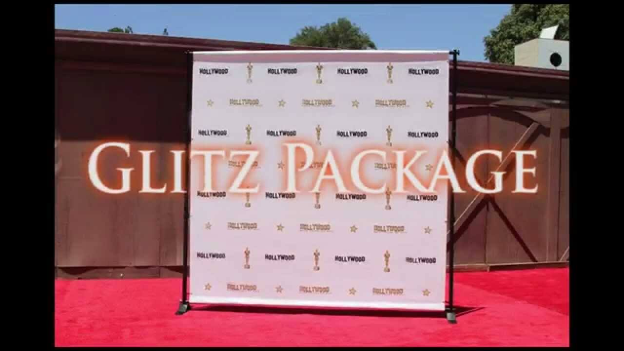 Step and Repeat LA - Glitz Package - Banner, Stand and Carpet