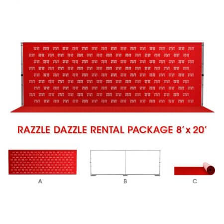 Razzle Dazzle Rental Package 8' x 20' Backdrop