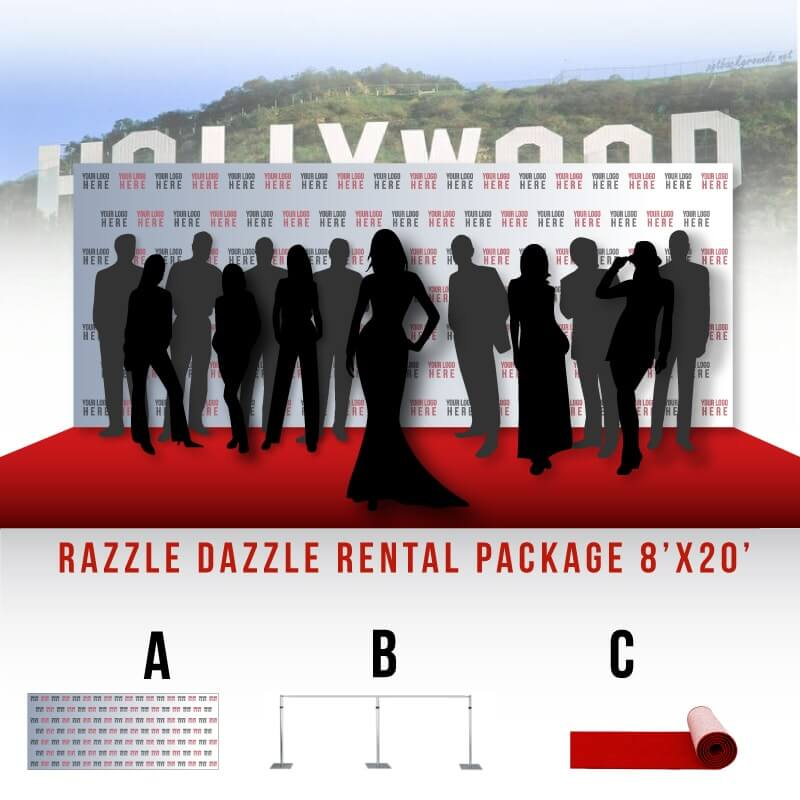 Razzle Dazzle Rental Package 8 X 20 Step And Repeat La