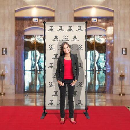 A custom Selfie Backdrop for Chanel