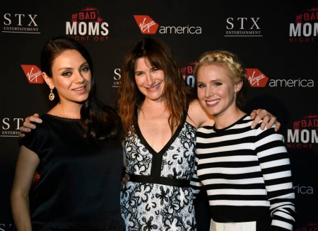Step and repeat backdrop for Virgin America's BAD MOMS night out event