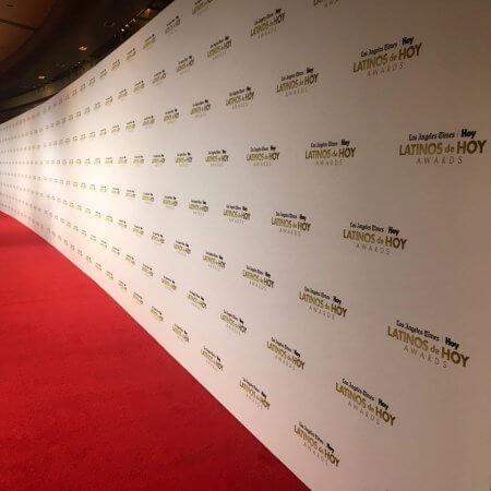 A massive Media Wall for the Latinos de Hoy Awards