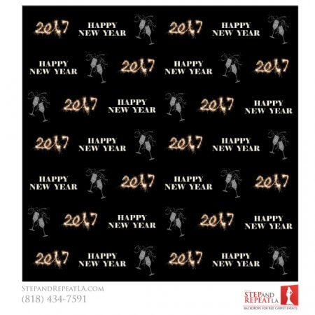 New Years Eve 2017 Champagne backdrop