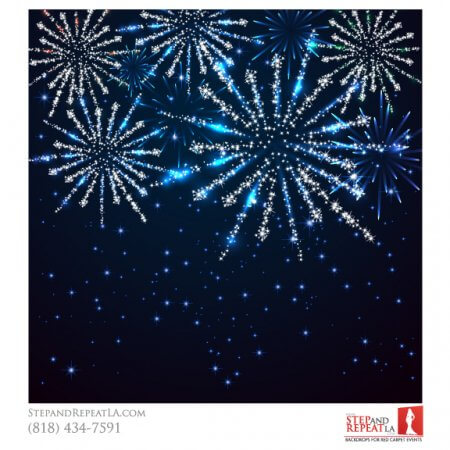 New Years Eve Fireworks backdrop