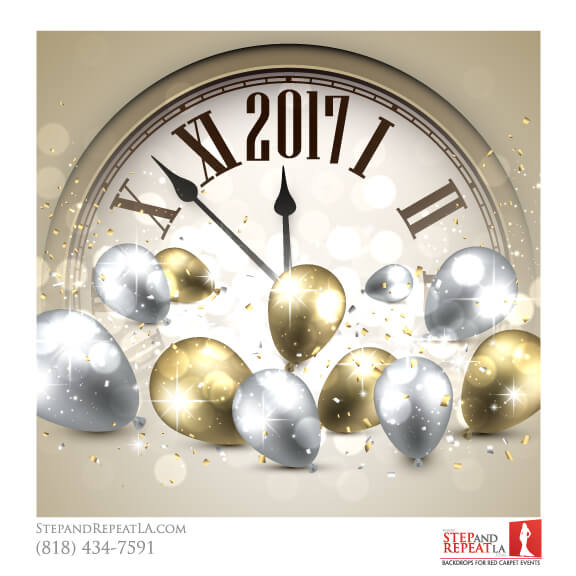 New Years Eve Clock backdrop