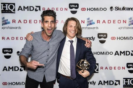 A bold step and repeat for the Proto Awards