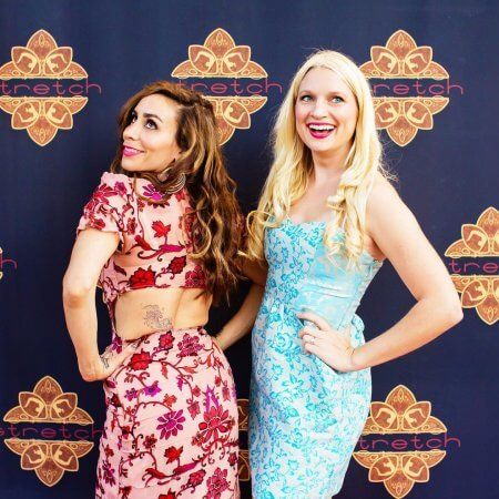 Step and repeat backdrop for School of Stretch