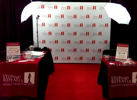 Step and Repeat LA Trade show booth in Boston