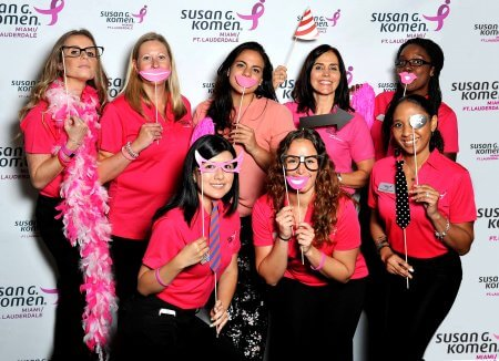 Trade show package designed for Susan G. Komen by Step and Repeat LA