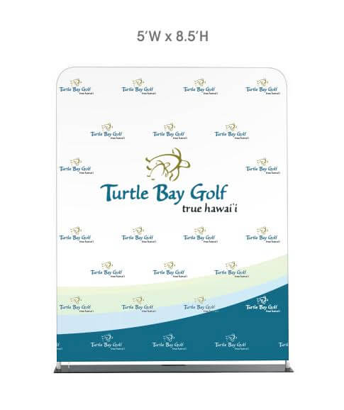 Step and Repeat LA-Fabric-Stretch-Display-5'-Turtle-Bay